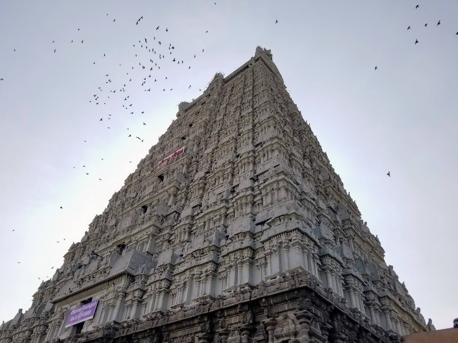 The Annamalaiyar Temple in Tiruvannamalai, nearby where the 3 weeks silence retreat with the enlightened master Madhukar takes place in February/March every year.